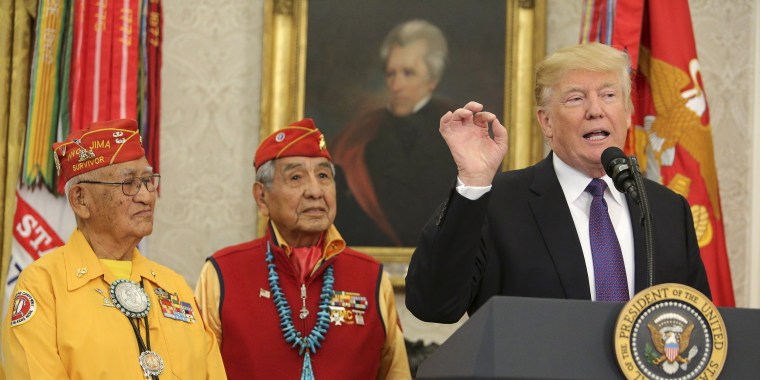 Image: President Trump Honors Native American Code Talkers At White House