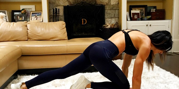 Mountain climbers torch calories, working your entire body and also getting your heart rate up.
