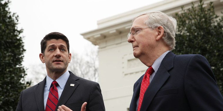 Image: Paul Ryan And Mitch McConnell Speak To Press After Meeting With Donald Trump