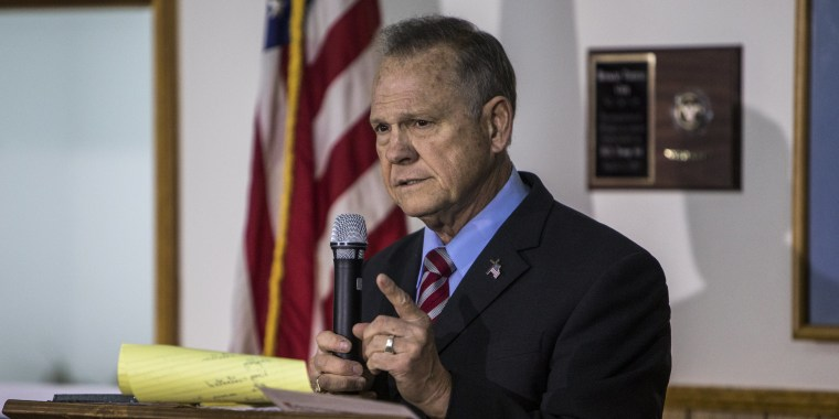 Image: GOP Alabama Senate Candidate Roy Moore Holds Campaign Rally