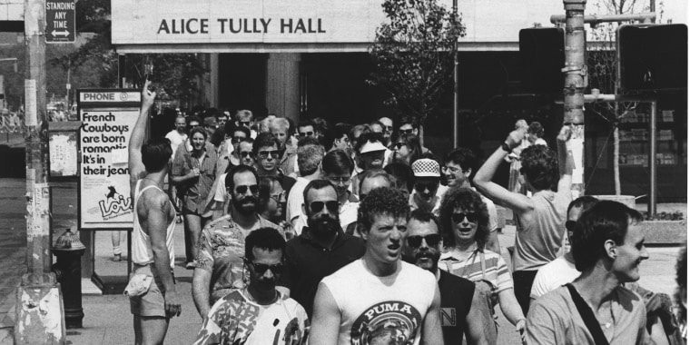 The Gay Men's Health Crisis (GMHC) holds the first AIDS Walk New York in 1986 in Manhattan, New York. Photo courtesy of GMHC.