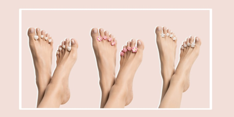 Toe spacer set for pedicures
