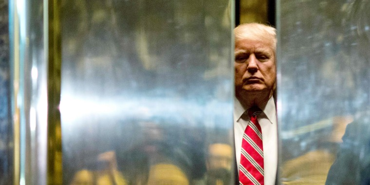 Image: Donald Trump boards the elevator