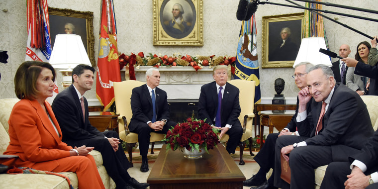 Image: President Donald Trump and Vice President Mike Pence meet with Congressional leadership   - DC