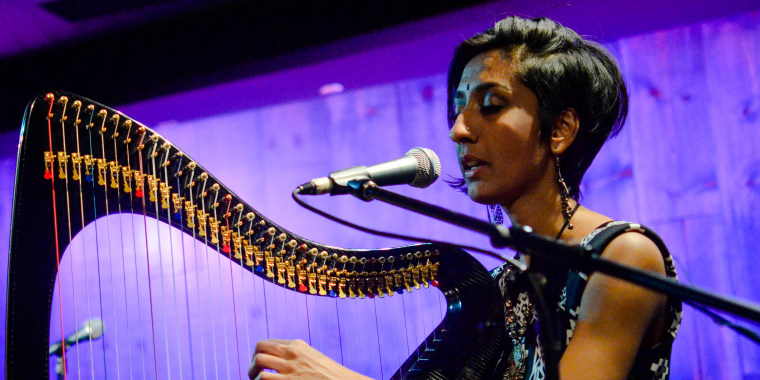 Vocalist and instrumentalist Sheela Bringi started playing the harp at the age of 14.