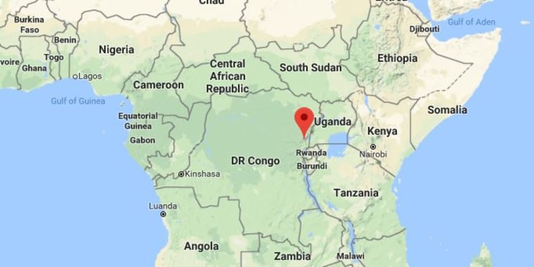 Image: A map showing the location of North Kivu province