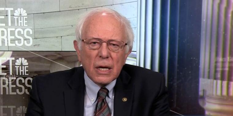 Image: Senator Bernie Sanders (I-Vt.) appears on Meet the Press on Dec. 10, 2017.