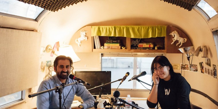 "Zahir Janmohamed and Soleil Ho, co-hosts of the ""Racist Sandwich"" podcast."