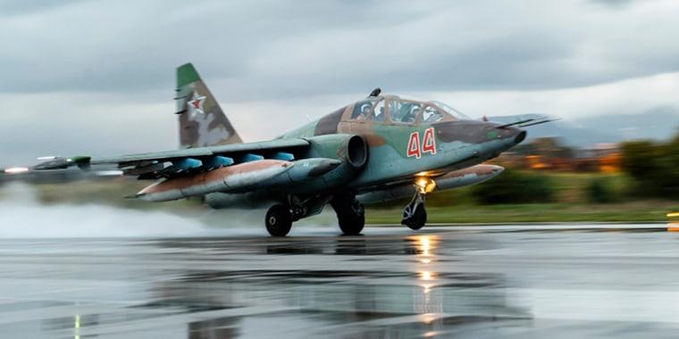 Image: A Russian Su-25 ground attack jet