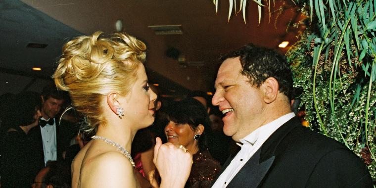 Image: Mira Sorvino and Harvey Weinstein