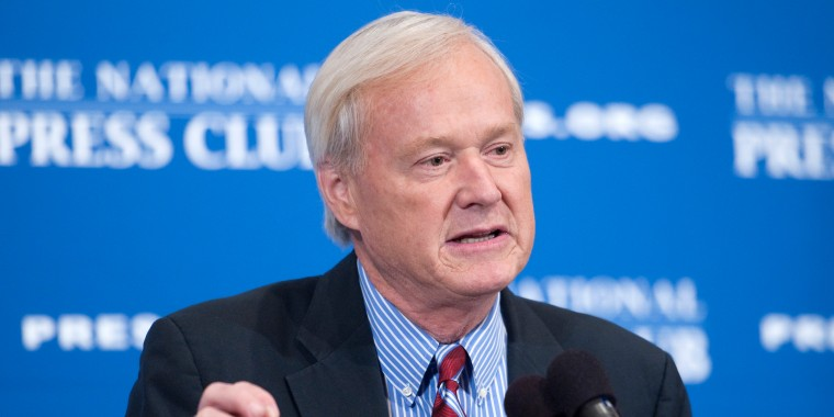 """In this June 4, 2012 file photo, Chris Matthews, host of MSNBC's """"Hardball with Chris Matthews"""" delivers a National Press Club Newsmaker Luncheon address at the 25th annual Gerald R. Ford Presidential Foundation journalism awards luncheon."""