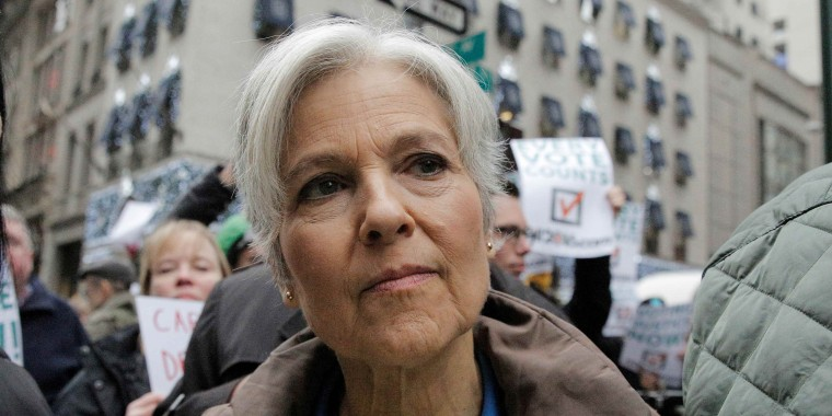Image: Green Party presidential nominee Jill Stein arrives for a news conference outside Trump Tower in New York
