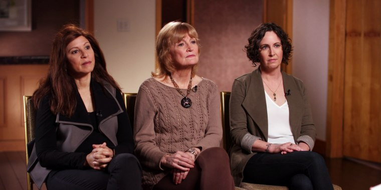 Image: Women speak about their accustations of sexual misconduct against actor Dustin Hoffman