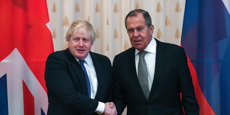 Image: Boris Johnson and Sergei Lavrov