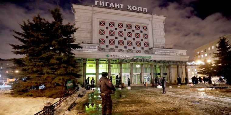 Image: Explosion in supermarket 'Perekrestok'  in St. Petersburg