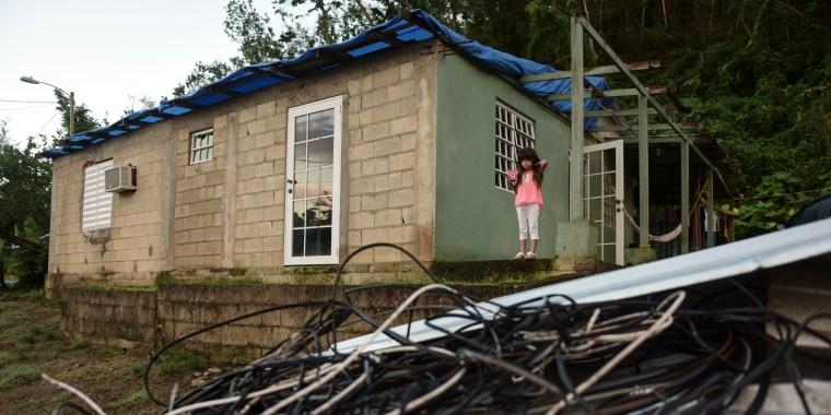 A December photo captures some of the devastation that is still seen around the island after Hurricane Maria battered Puerto Rico on Sept. 20, 2017.