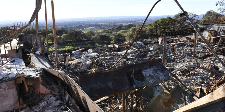Paradise Ridge Winery burned down in the 2017 Tubbs Fire in Sonoma County, California.