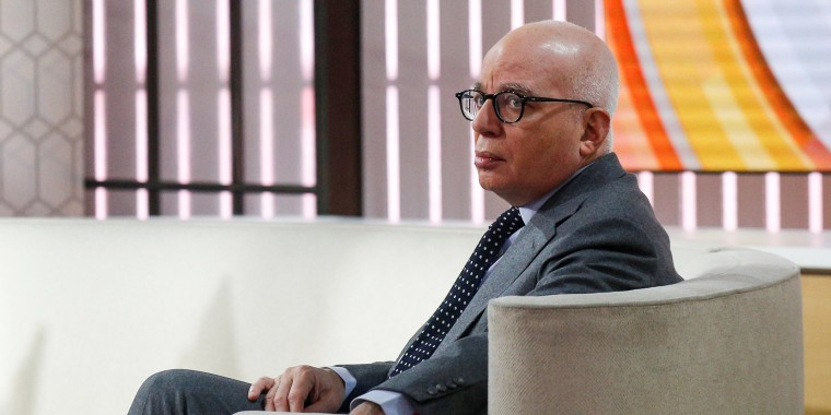 "Image: Author Michael Wolff is seen on the set of NBC's 'Today' show prior to an interview about his book ""Fire and Fury: Inside the Trump White House"" in New York"