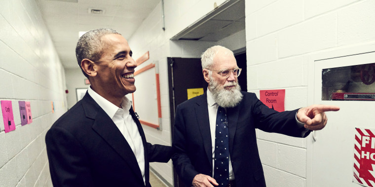 Image: 'My Next Guest Needs No Introduction' with David Letterman on Netflix has Barack Obama on as the first guest.