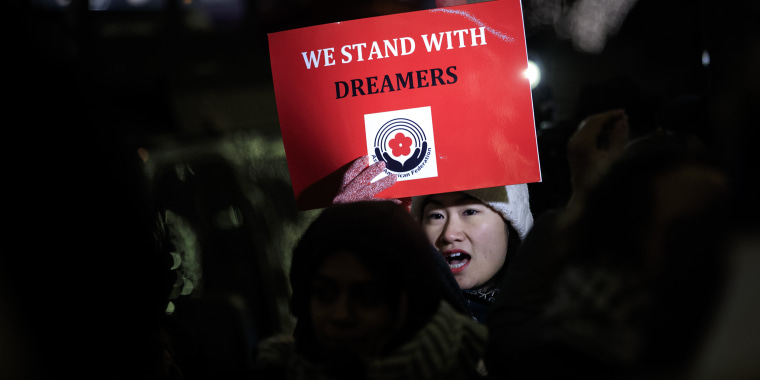 Image: Immigration Activists Demonstrate For Passage Of Clean Dream Act Outside Sen. Schumer's Office In New York