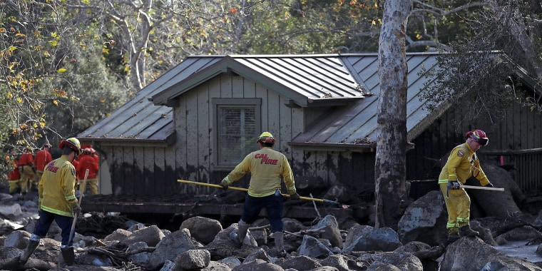 Image: Mudslides Kill Over 10 People In Montecito, Where Wildfire Scorched Hillside