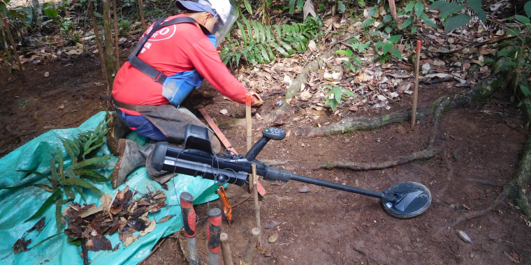 Colombia de-miners working for the Halo Trust in San Rafael municipality.