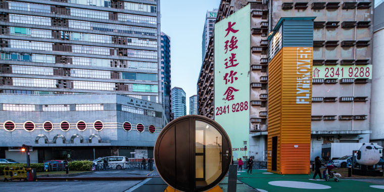 Image: OPod Tube Housing is designed using a concrete water pipe as a micro living apartment in Hong Kong