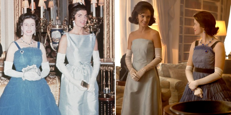 Image: First Lady Jackie Kennedy and Queen Elizabeth II on June 5, 1961 at