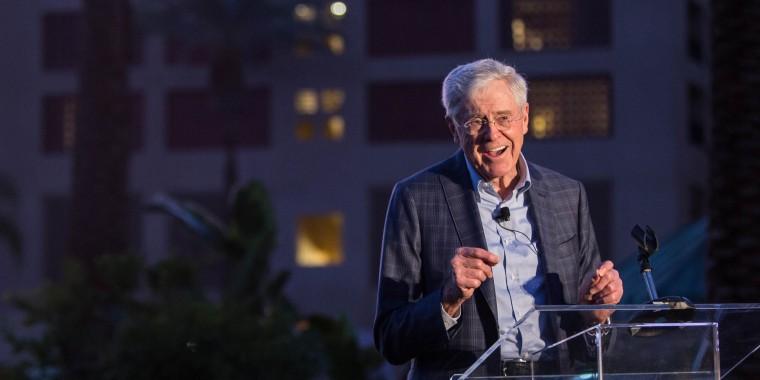 Image: Charles Koch speaks at the Seminar Network Winter Meeting 2018