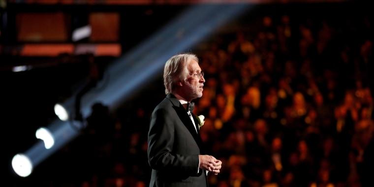 Image: Neil Portnow speaks at the Grammy Awards