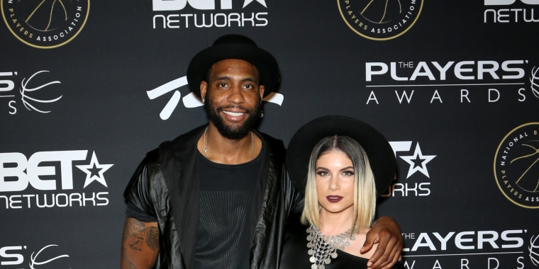 Image: NBA player Rasual Butler and singer Leah LaBelle