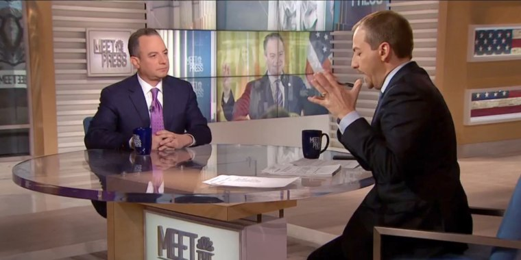 Image: Former White House Chief of Staff Reince Priebus appears on Meet the Press on Feb. 4, 2018.