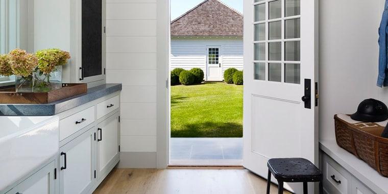 Home with a barn door.