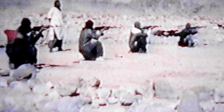 Image: A video grab of al Farooq Training Camp