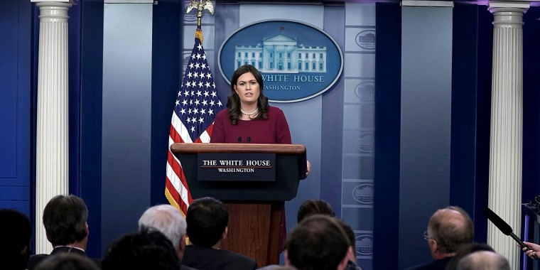 Image: White House Press Secretary Sarah Sanders Holds Press Briefing