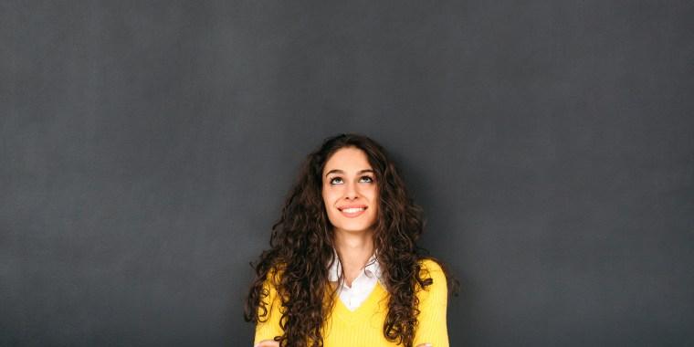 Image: Woman In Front of Blackboard