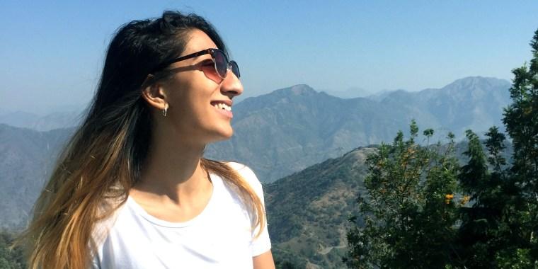 Radhika Sanghani is leading the #SideProfileSelfie movement.