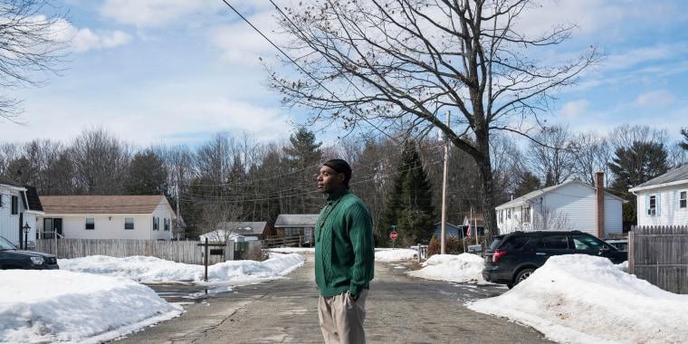 Image: Joseph Jackson at his home in Lisbon Falls, Maine