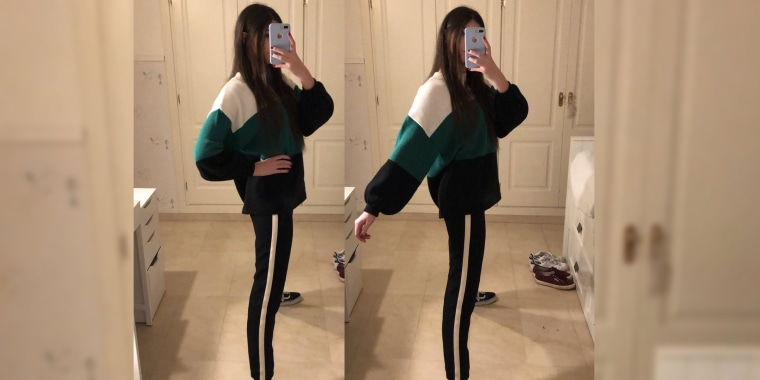 Track suit pants optical illusion goes viral