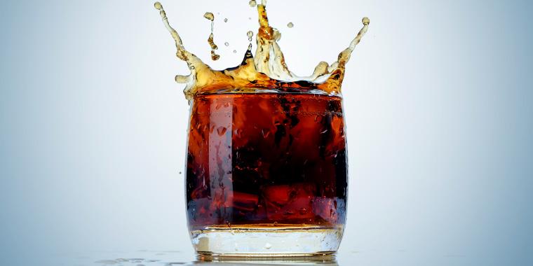 Soda splashing