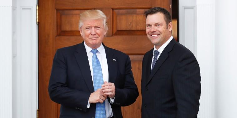 Image: Donald Trump and Kris Kobach