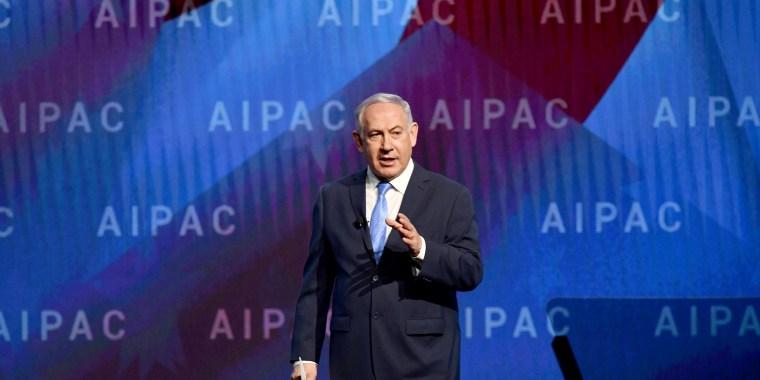 Image: Israeli Prime Minister Benjamin Netanyahu attends the American Israel Public Affairs Committee