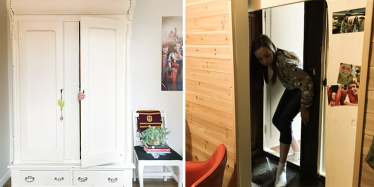 This 11-year-old's armoire leads to a secret room.