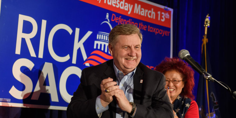 Image: GOP PA Congressional Candidate Rick Saccone Holds Election Night Event