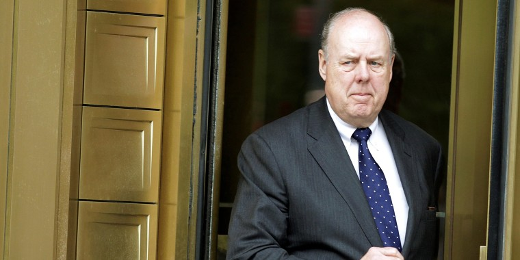 Image: Lawyer John Dowd exits Manhattan Federal Court in New York