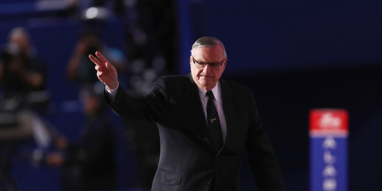 Image: Maricopa County Sheriff Joe Arpaio at the Republican National Convention in 2016