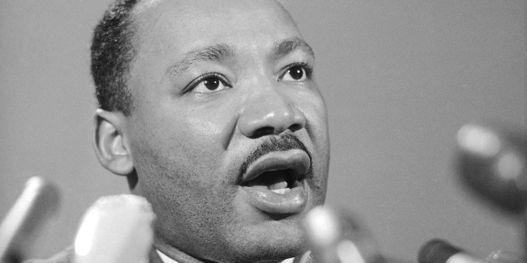 Image: Dr. Martin Luther King Jr., tells a press conference in Chicago