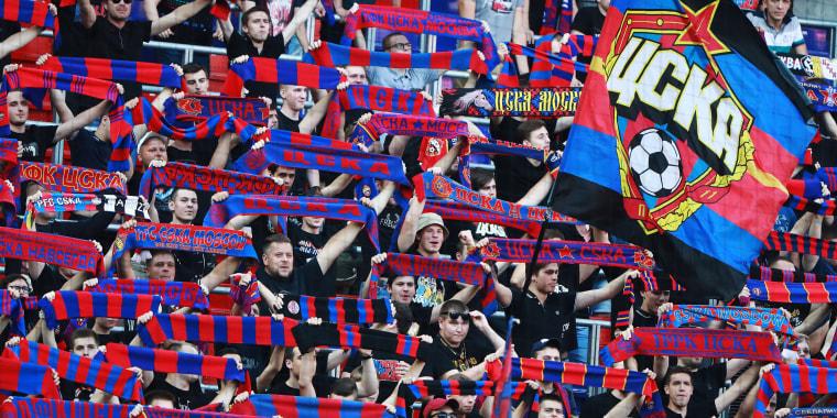 Image: CSKA Moscow fans