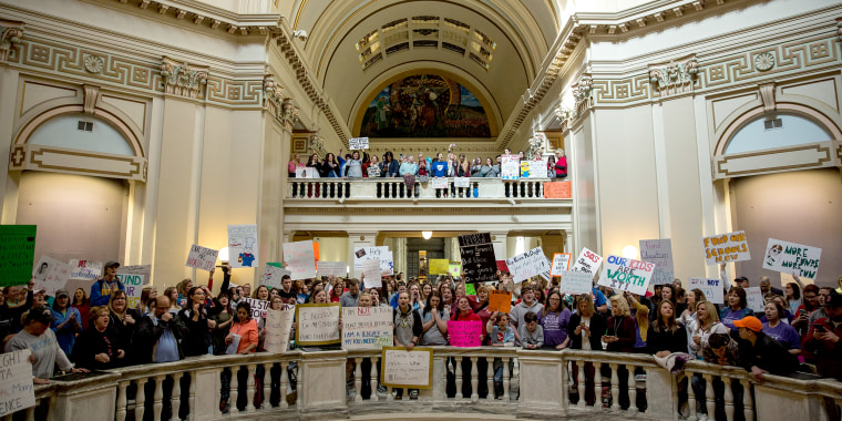 Image: Oklahoma Teachers Strike Enters Third Day