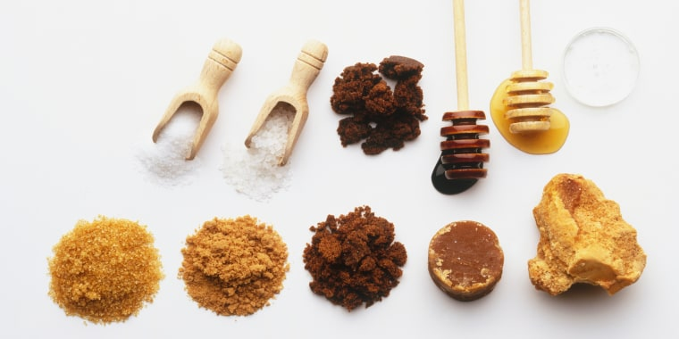Image: Selection of sugars, view from above